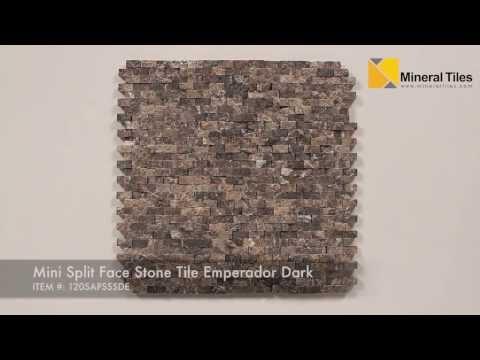Mini Split Face Stone Tile Emperador Dark - 120SAPSSSDE