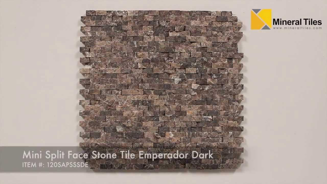 Mini Split Face Stone Tile Emperador Dark  120SAPSSSDE
