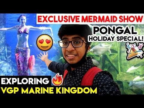 Exploring VGP Marine Kingdom! - Special Mermaid Show in Chennai   Tamil Vlog   Idris Explores