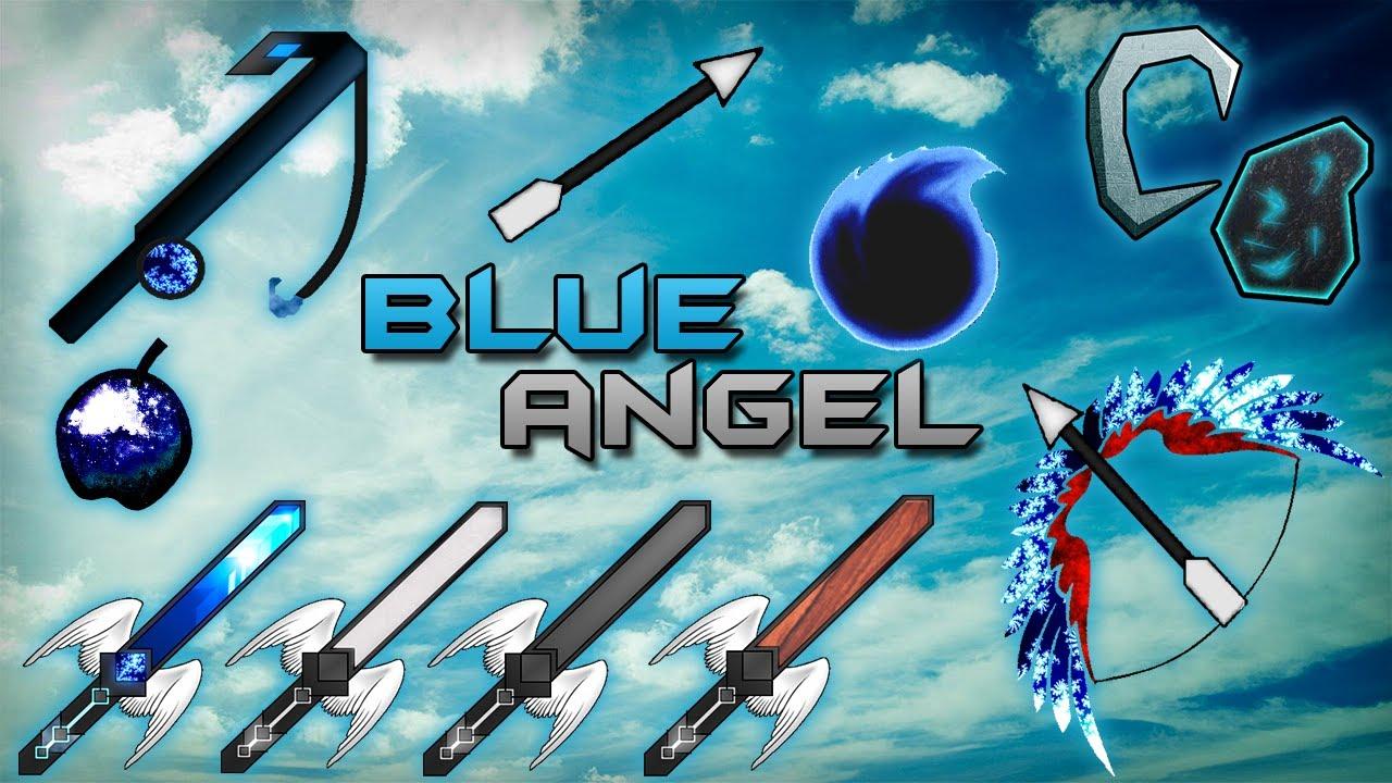 Pack de textura BLUE ANGEL minecraft 1.7.2 ★★★ - YouTube
