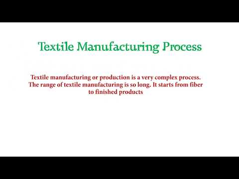 flow chart of textile manufacturing