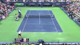 US Open 2011 Nadal   Roddick highlights