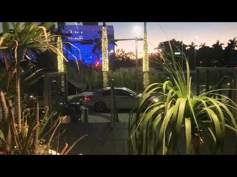 Downtown miami beautiful sunrise