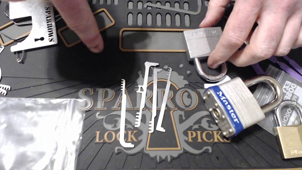 Irongeek's wallet lock picking tools (Sparrows Comb Picks, Serepick Bogotas)
