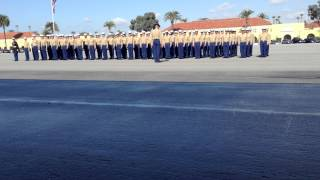 U S Marines Being Dismissed By Their Drill Instructor At Camp Pendleton