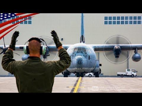 米軍兵士 & 日本人従業員によるKC-130ホットピット給油:岩国基地