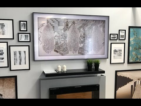 hands on with the new 2017 samsung frame tv youtube. Black Bedroom Furniture Sets. Home Design Ideas