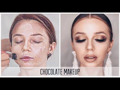 Шоколадный МАКИЯЖ пошагово. Make Up | Анна Комарова