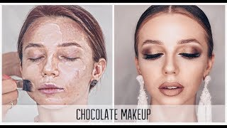 Шоколадный МАКИЯЖ пошагово. Make Up.