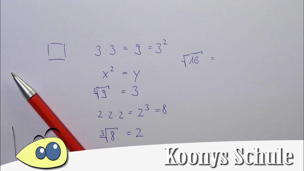 Was eine Quadratwurzel ist? - YouTube