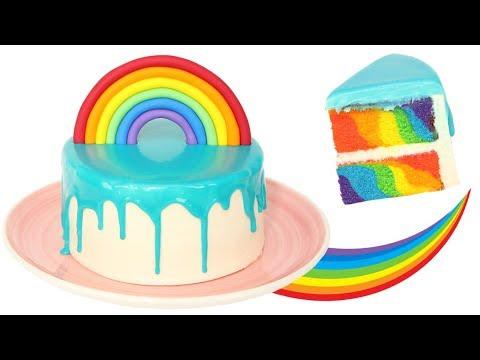 Recette Rainbow Cake Facile Gateau Arc En Ciel Youtube