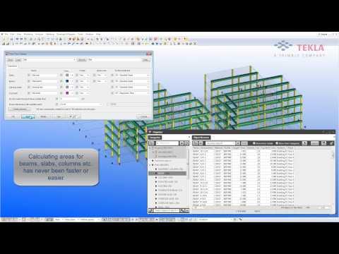 Tekla for Concrete Construction – Formwork Material Quantity Take-off [QTO]