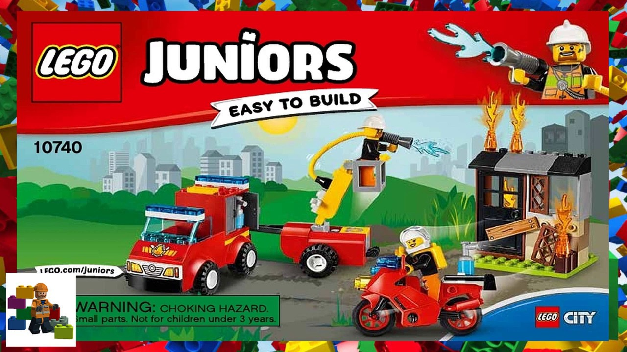 Lego Instructions Juniors 10740 Fire Patrol Suitcase Youtube