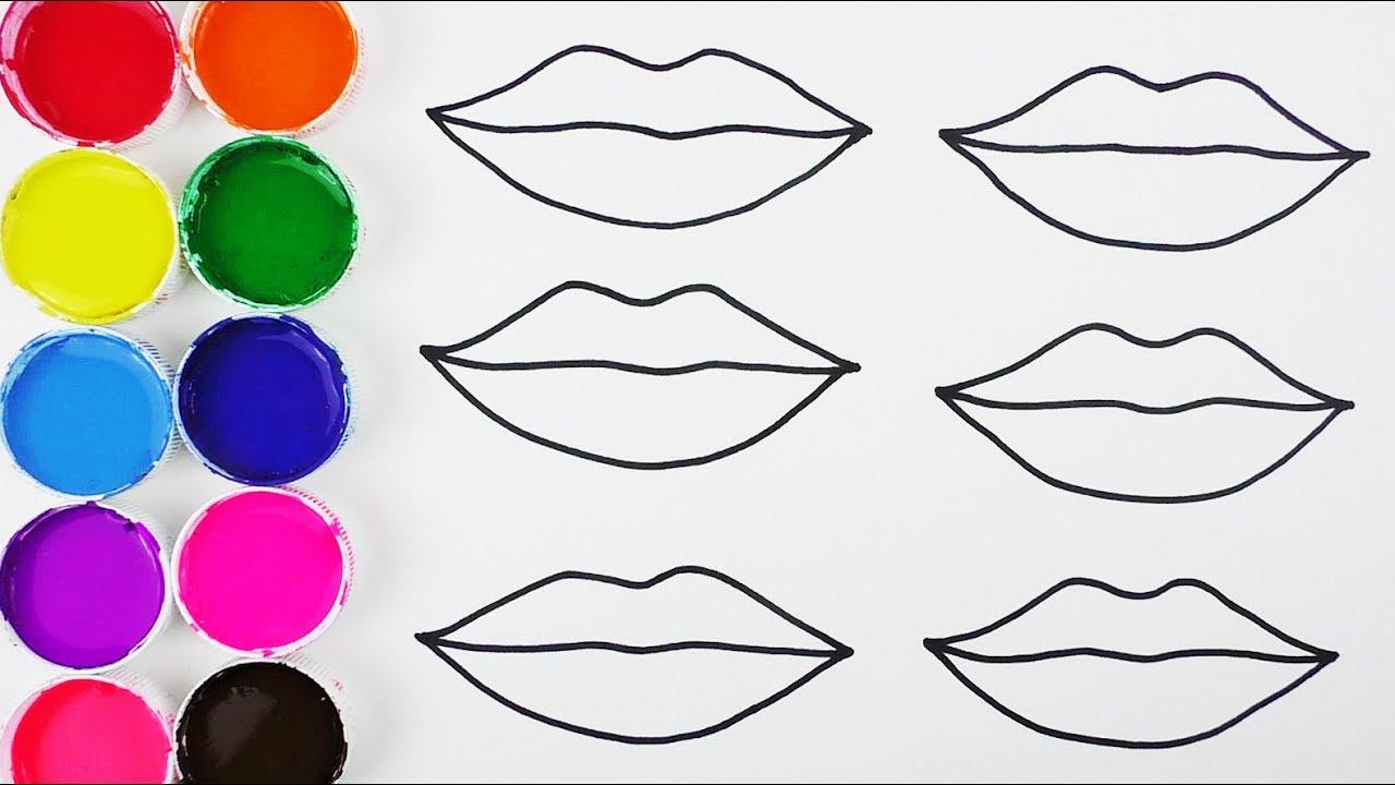Cómo Dibujar Boca De Colores Dibujos Para Niños Learn Colors Funkeep Youtube