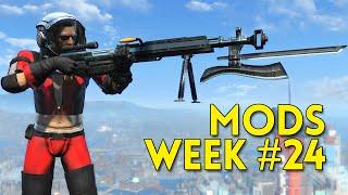 Fallout 4 TOP 5 MODS Week #24 - GIANT SNIPER, NUKA GEAR, SECURITRONS