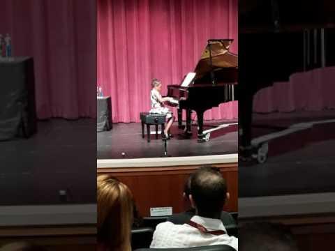 Kallie Vanesse Lewis Piano Recital 1st Grade 2017 Lake Highland Preparatory School