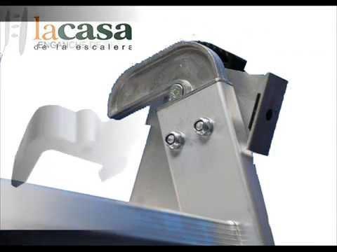 Escalera tres tramos transformable profesional en aluminio - Escaleras tres tramos ...