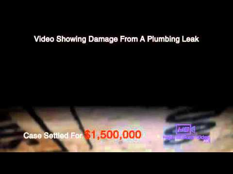 Legal Video Los Angeles - Products Liability - Plumbing Leak