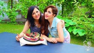 کیک خام گیاهی میوه ای انار سبز ☆ How to make raw vegan fruit cake