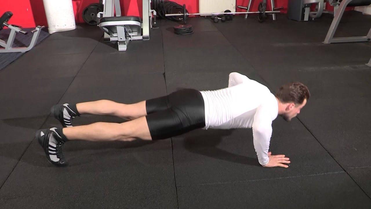 Variante pompes - Exercice de musculation pectoraux avec ...