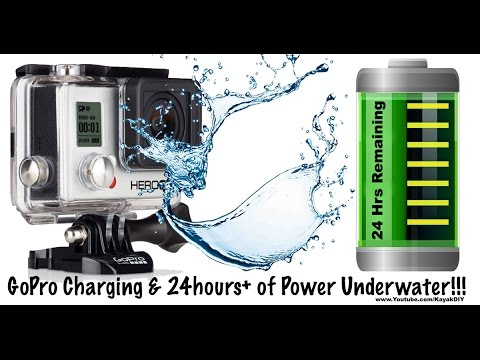 Power and Charge GoPro Underwater For Waterproof 24hr Battery Life Kayak Solution!