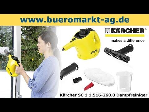 Kärcher Dampfreiniger SC 3 Easy Fix Dampfmopp mit Bodenreinigungsset