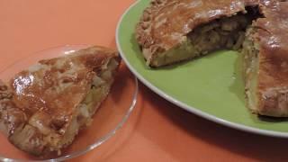 КУРНИК. ПИРОГ  с Курицей  и  Картофелем.  Пирог без дрожжей. Рецепт  Пирога  с   КАРТОШКОЙ .