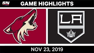 NHL Highlights   Coyotes vs. Kings – Nov. 23, 2019