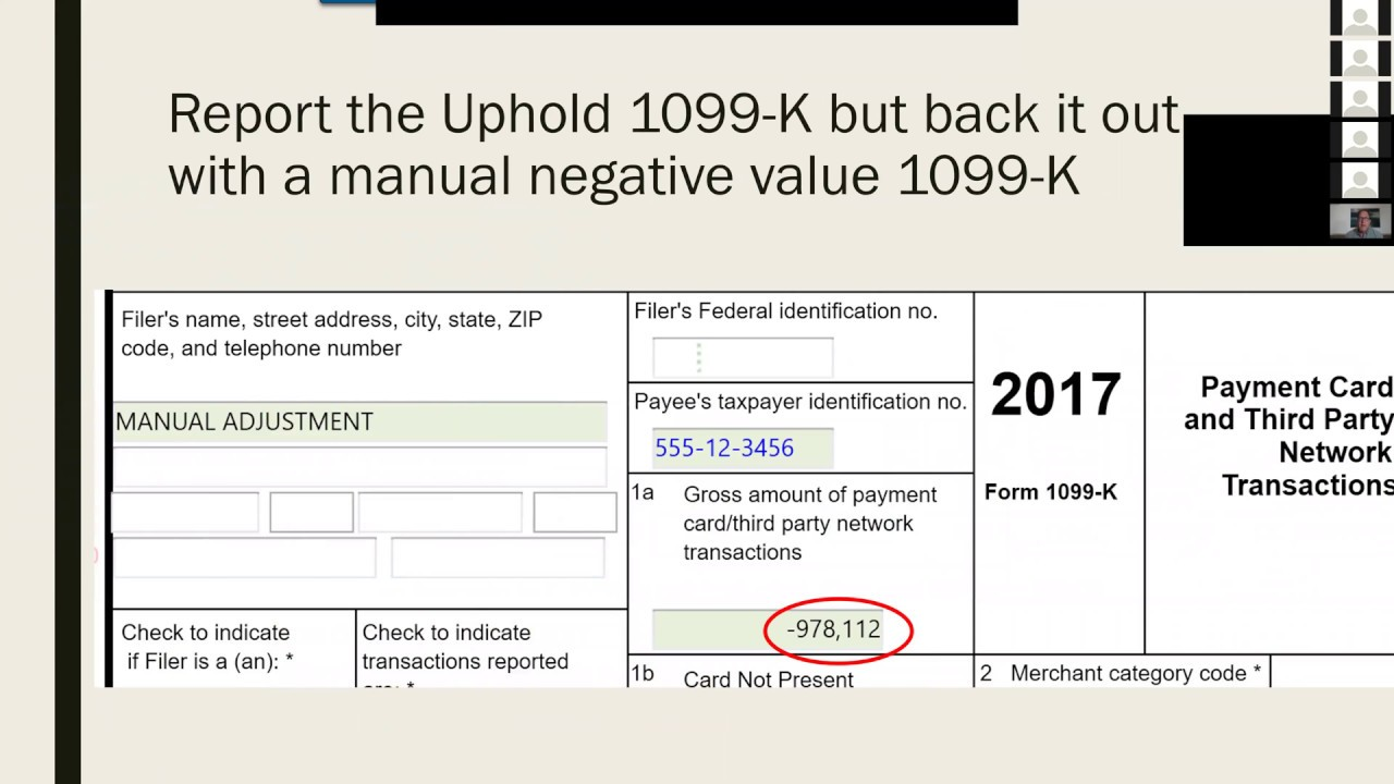 Crypto Tax Advice For Uphold 1099 K With Heleum 31018 Youtube