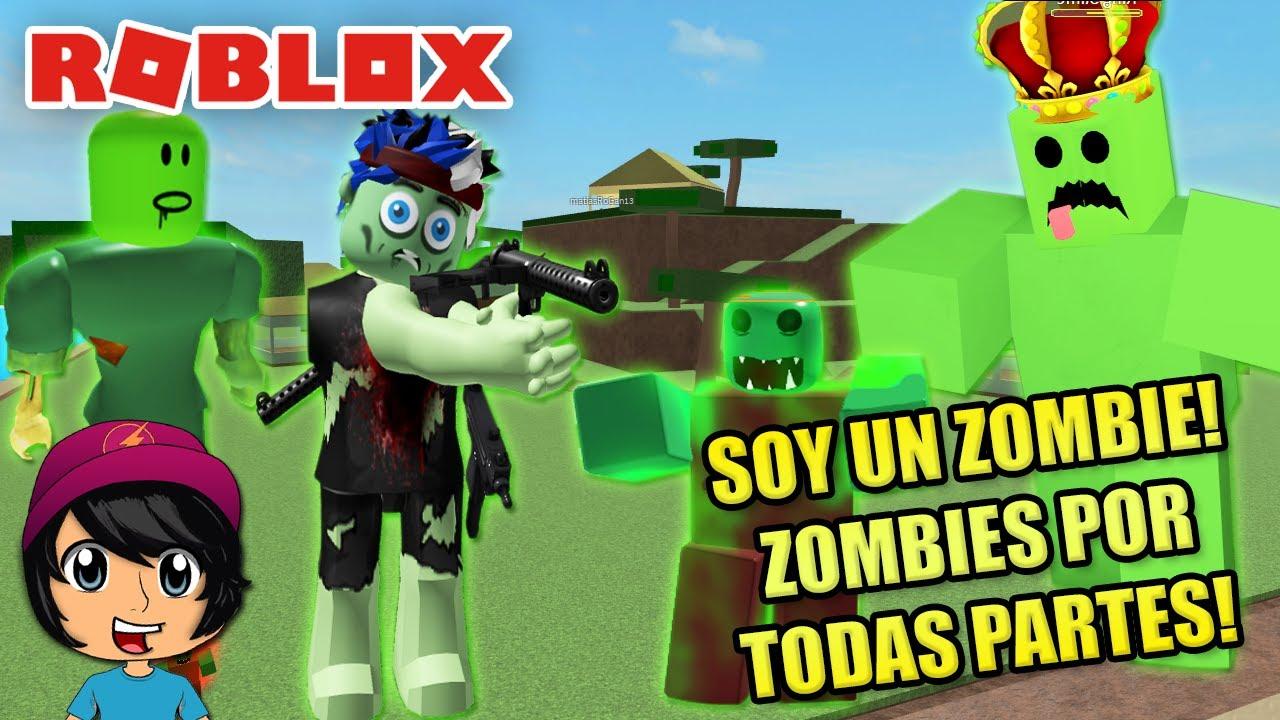 SOY UN ZOMBIE! PELEA DE ZOMBIES GIGANTES!   Soy Blue   Zombie Attack Roblox Español