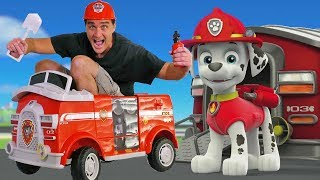 Paw Patrol Marshall's Motorized Ride On Fire Truck ! || Toy Review || Konas2002