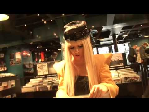 Lady Gaga In London : Record Shop (Rare Old Footage) - ORIGINAL