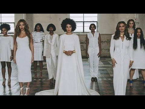 See Solanges Unconventional Wedding Dress Beyonces Glam Maid