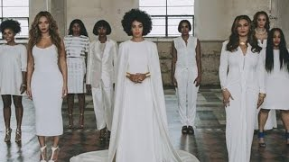 See Solange's Unconventional Wedding Dress & Beyonce's Glam Maid Of Honor Look