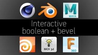 Interactive boolean bevel Blender Maya Houdini Fusion moi3d