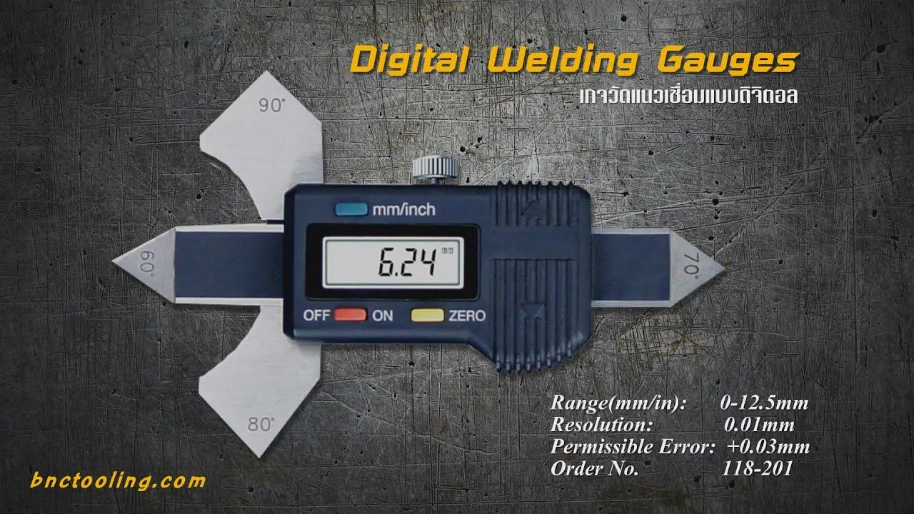 Digital Welding Gauges 118 201 เกจวัดแนวเชื่อมแบบดิจิตอล