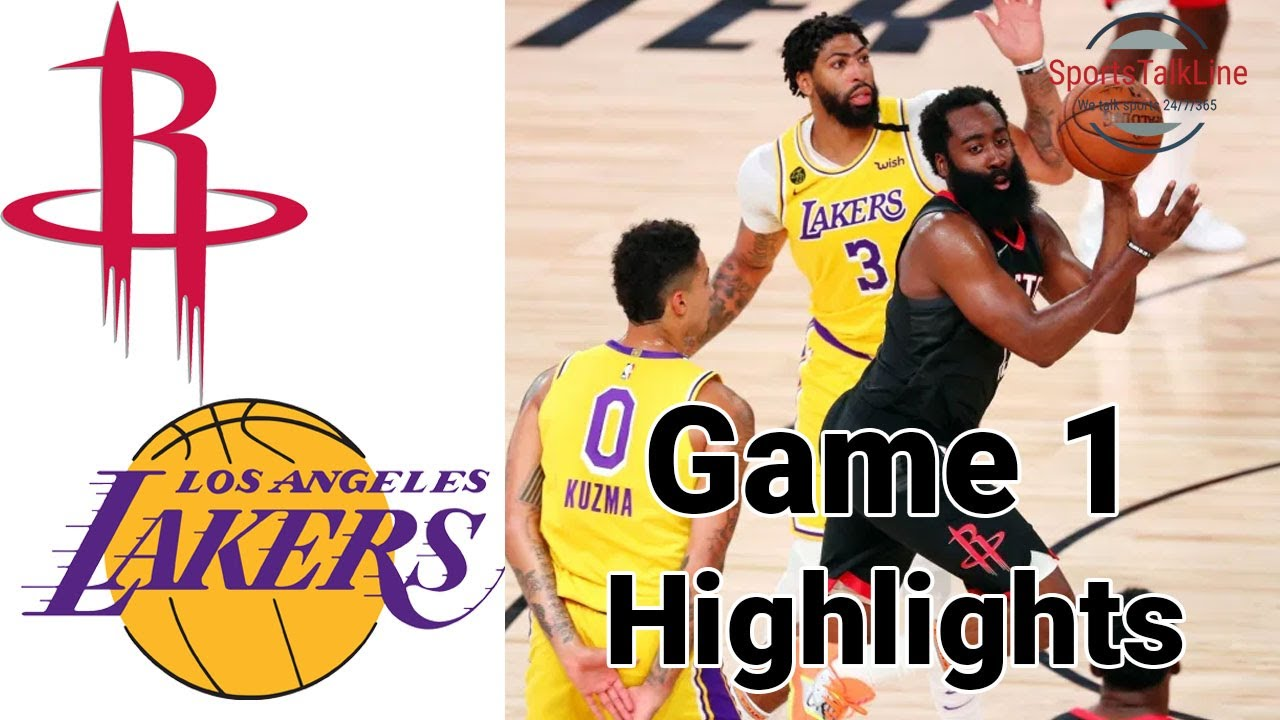 Lakers Vs Houston Game 1 2020