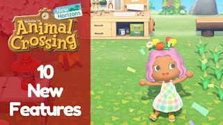 10 New and Exciting Features from Animal Crossing New Horizons