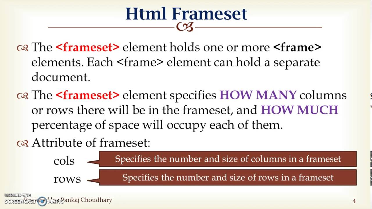 To Create a Frame in HTML - YouTube