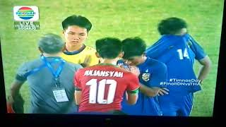 Indonesian national team celebration after defeating Thailand national team, great respect for Thail