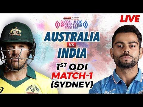 Live Australia Vs India 1st ODI Cricket Match Commentary | SportsFlashes