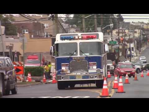 North Arlington, Nj Fire Department Engine 1 (Big Blue) Responding On Belleville Turnpike