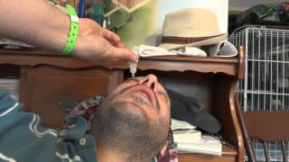 Retinal Detachment - Post Operative Recovery - Application of eye drops