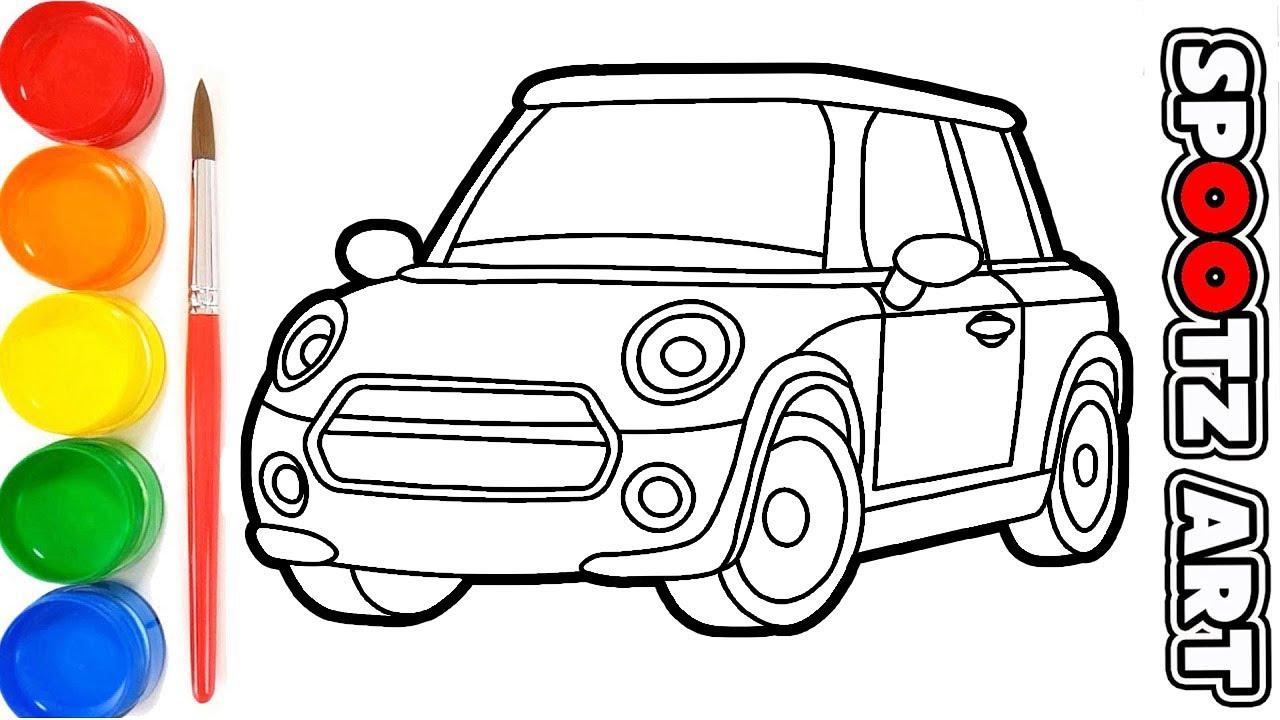 Cara Menggambar Dan Mewarnai Mobil Mobilan Mudah Youtube