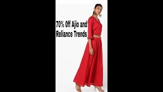 Ajio and Reliance Trends Shopping Haul# Flat 70% off...