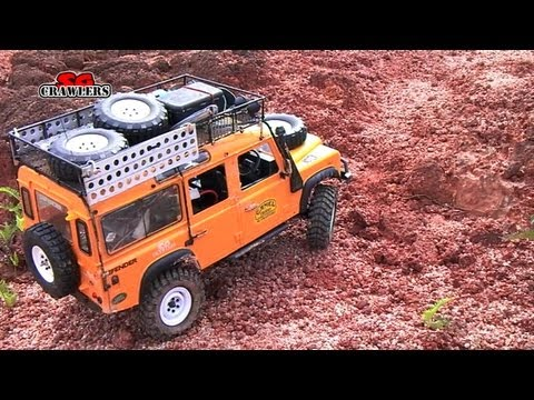 Rc Land Rover Defender 110 Scale Camel Trophy Landy