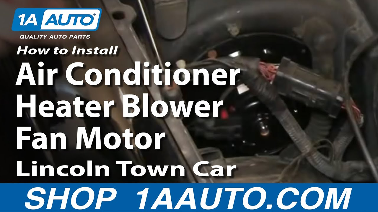 hight resolution of how to replace heater blower motor with fan cage 98 02 lincoln town car