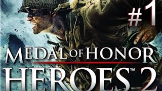 Medal of Honor: Heroes 2 - Mission 1: The Beach walkthrough (Wii, PSP)