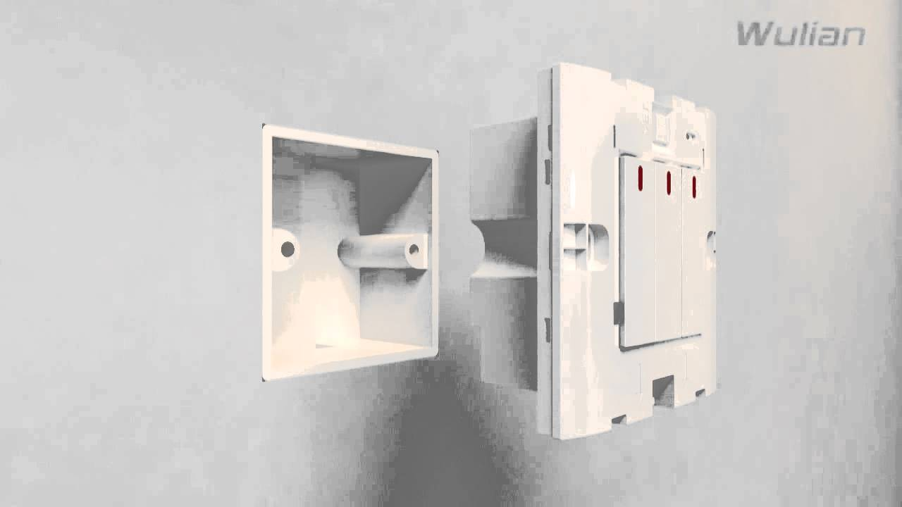 wall mounted light switch of zigbee wireless home automation - YouTube