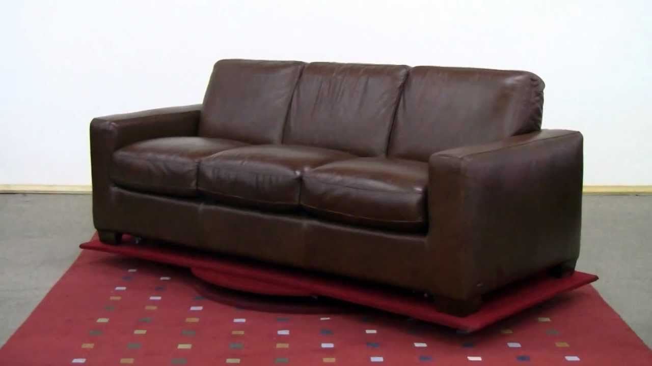 The Rubicon (B534) Queen Leather Sleeper Sofa By Natuzzi Editions Review At  Sleepers In Seattle   YouTube